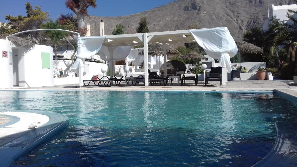 The swimming pool at or near Drossos Hotel