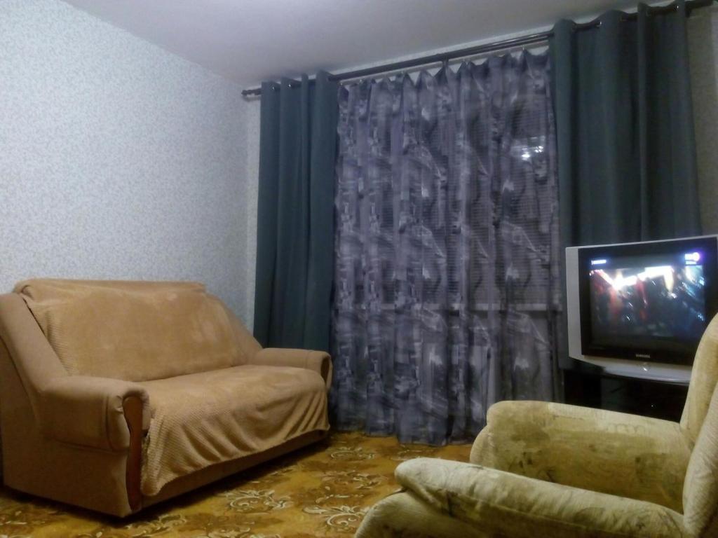Гостиная зона в Апартаменты в пгт Грибановский
