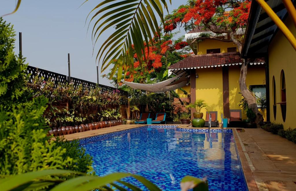 The swimming pool at or near Thanakha Inle Hotel