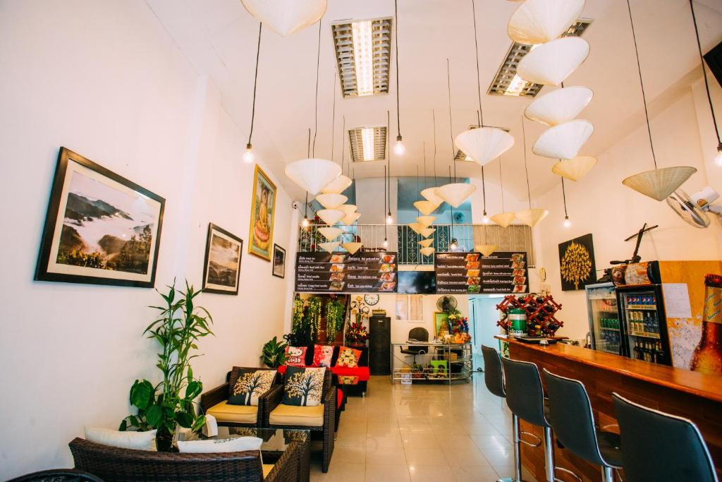 The lobby or reception area at Green Box Capsule Hostel & Hotel