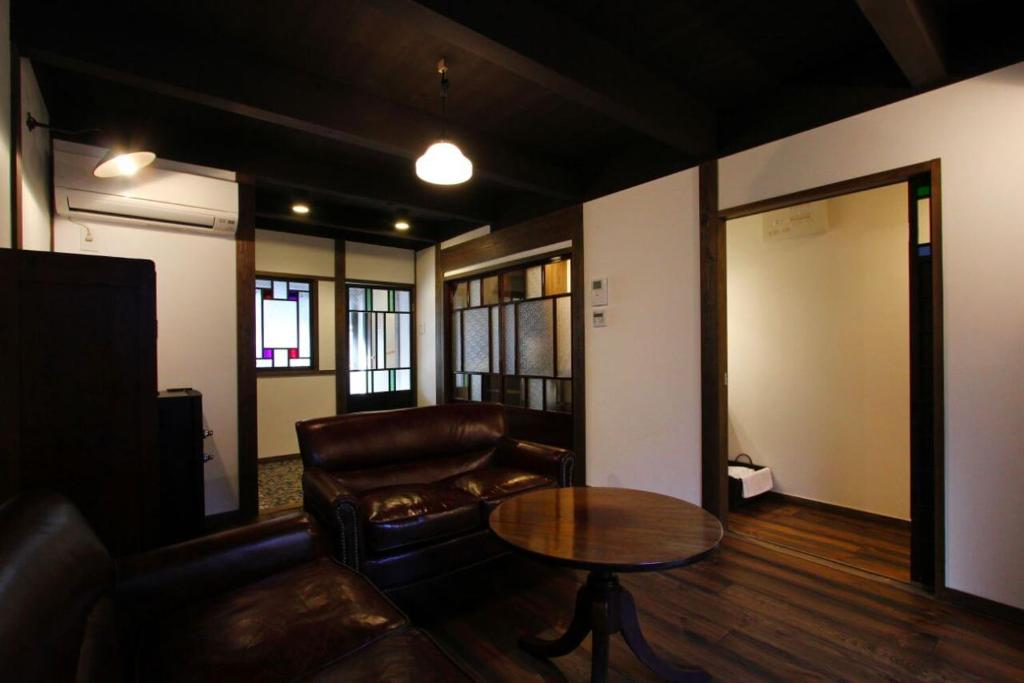 A seating area at Azuki an Machiya House