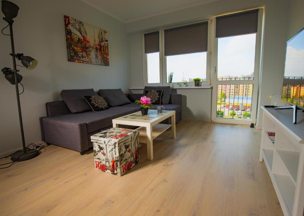 A seating area at JDK Apartamenty Kalisz Podmiejska