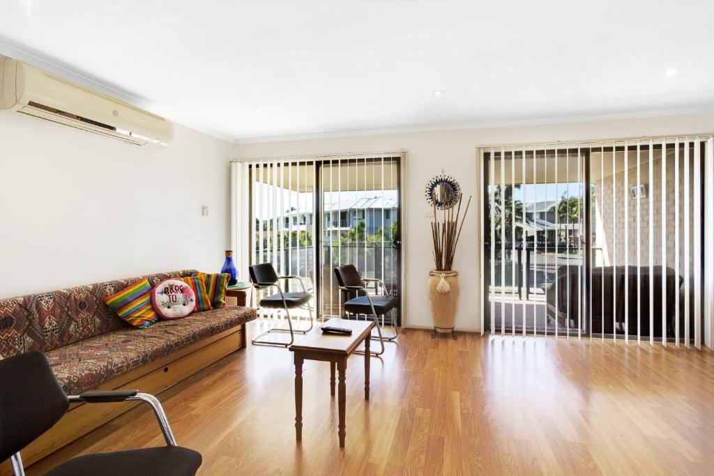 A seating area at Townhouse in the heart of Port Stephens