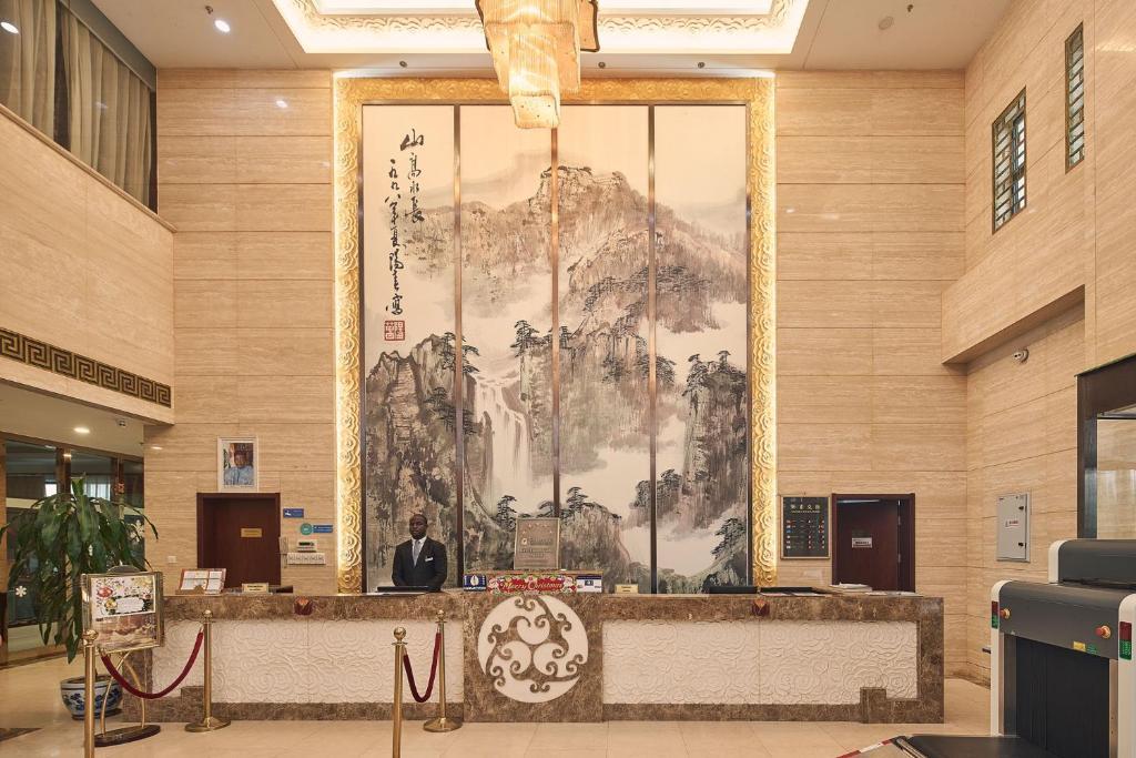 منطقة الاستقبال أو اللوبي في فندق سولوكسي نيامي