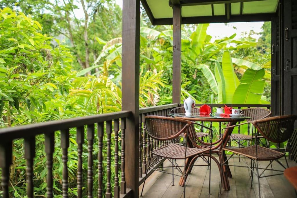 A balcony or terrace at Villa Sri Kampung