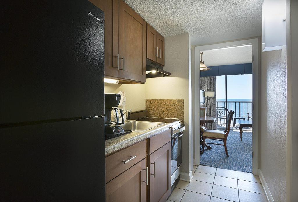 A kitchen or kitchenette at Sea Crest Oceanfront Resort