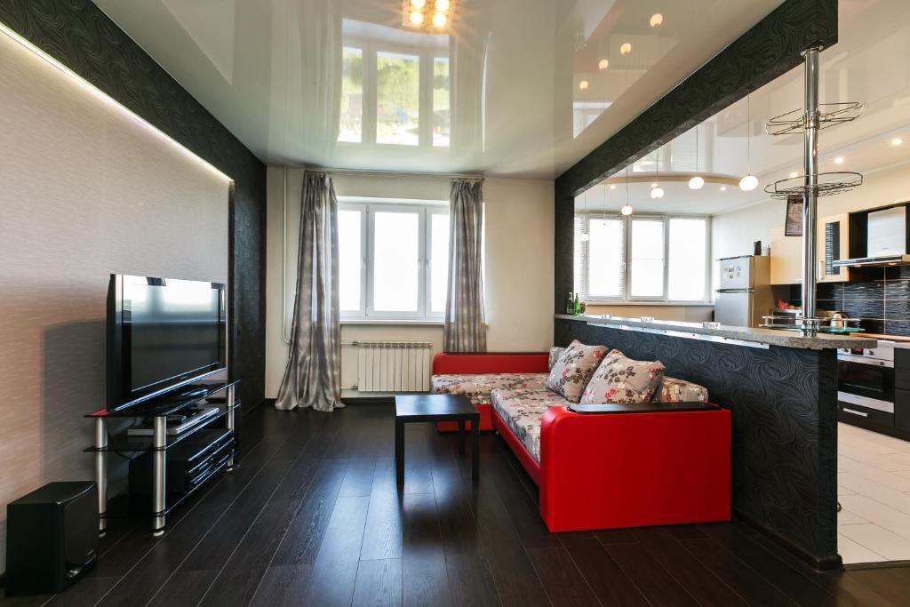 A seating area at Апартаменты Fon Haus на Рощинской