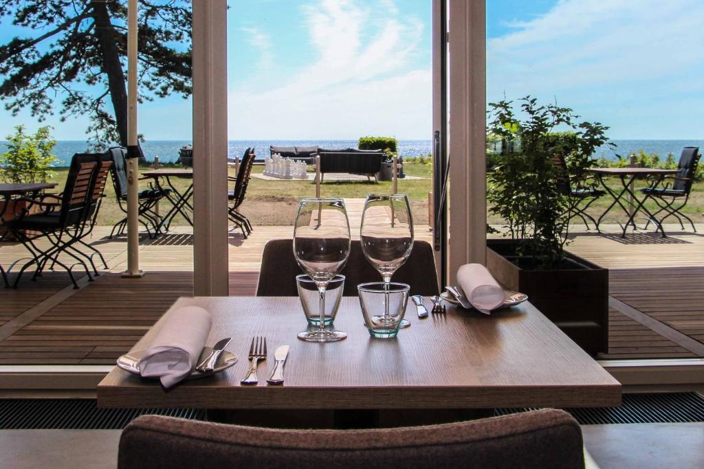 En restaurant eller et andet spisested på Hotel Fredensborg