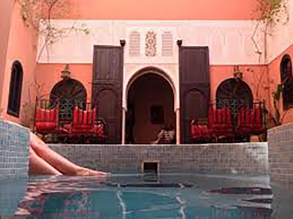 The swimming pool at or near Riad La Perle de Marrakech