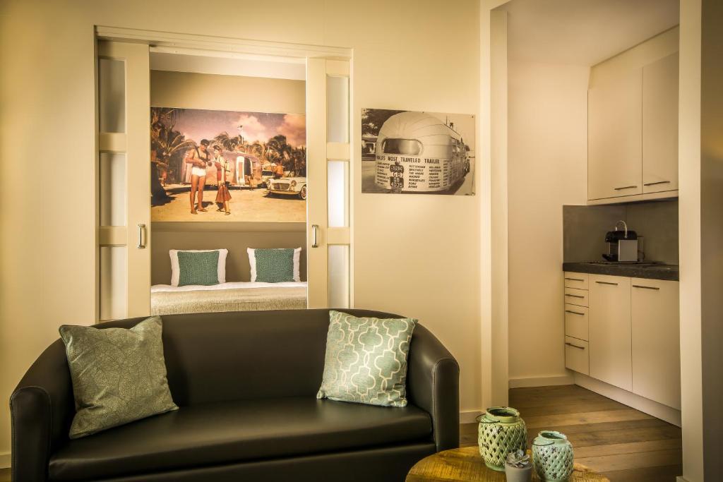 A seating area at appartementen Valkenburg / Den Driesch