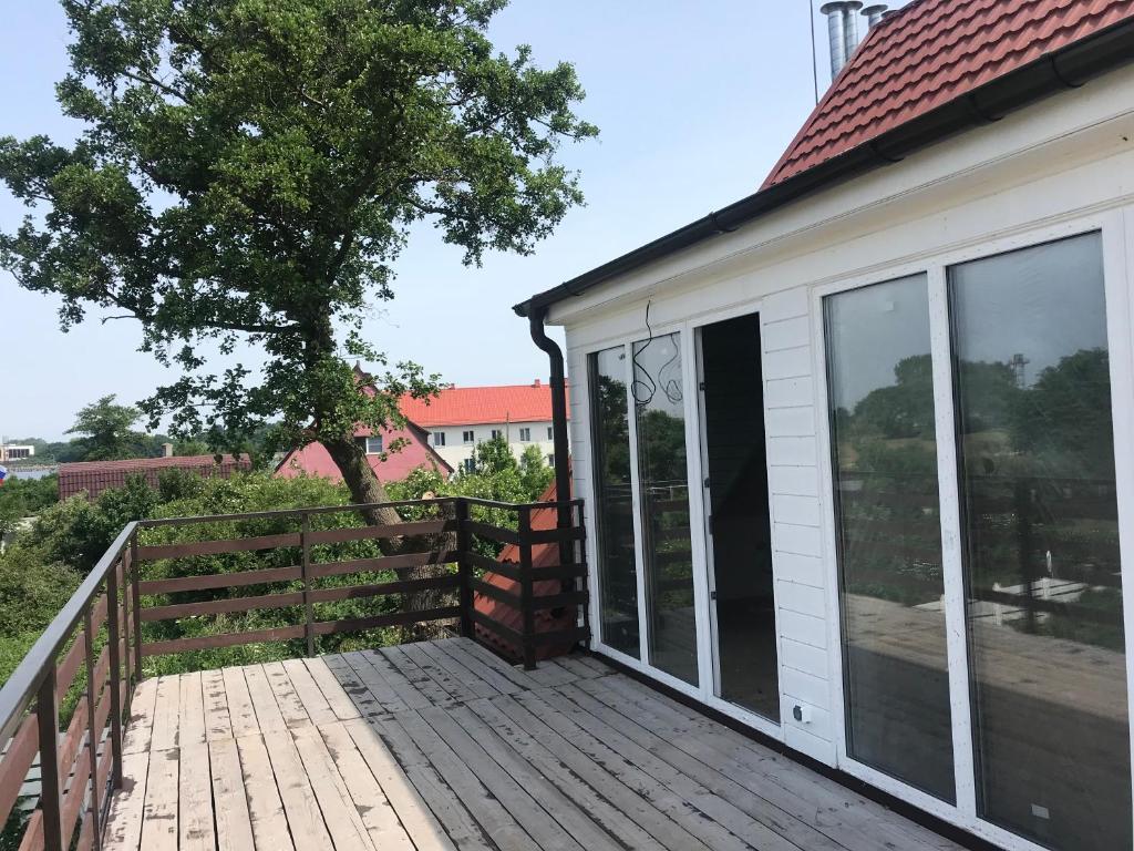 A balcony or terrace at Zаства