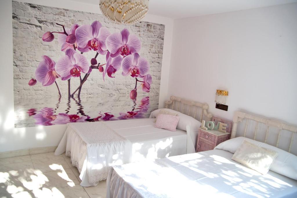 Cama o camas de una habitación en Casa de Torres
