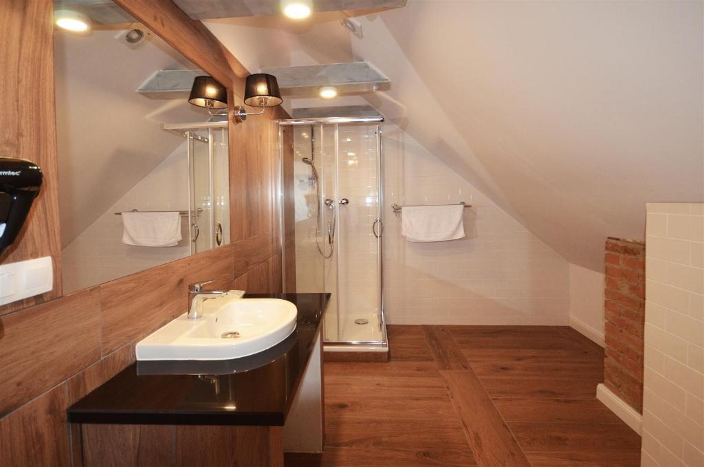 Łazienka w obiekcie Pensjonat Sielanka