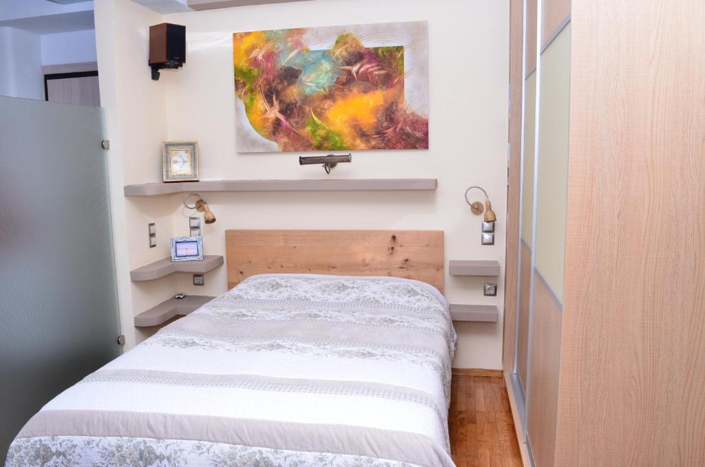 Postel nebo postele na pokoji v ubytování Indigo House