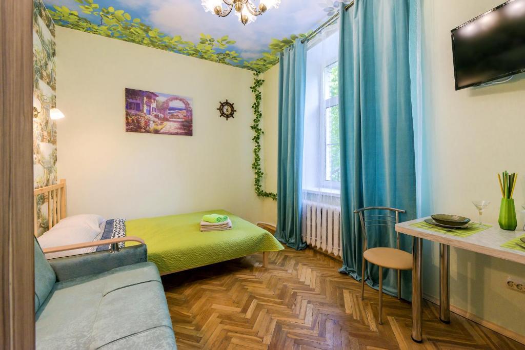 Кровать или кровати в номере Apartments Lazur