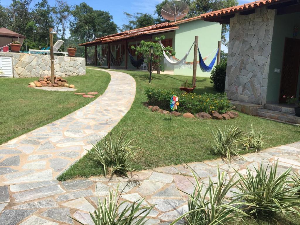 Jardín al aire libre en Estancia Maria