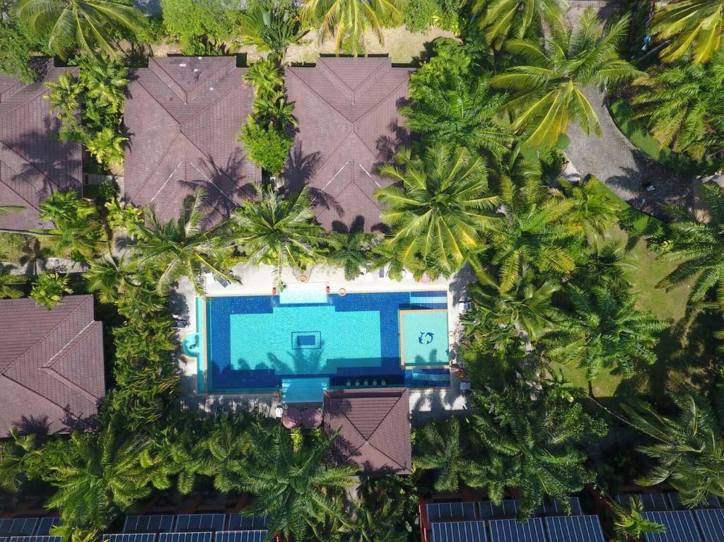 Vaade majutusasutusele Sudala Beach Resort linnulennult