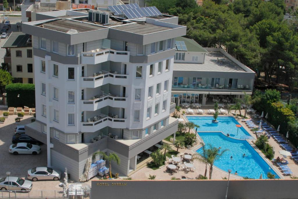 A bird's-eye view of Hotel Dyrrah