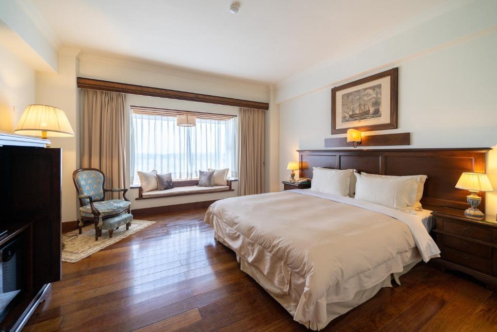 香格里拉冬山河渡假飯店房間的床