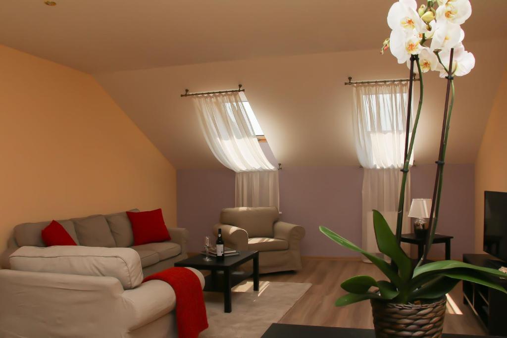 Posezení v ubytování Luxury Machova Apartments