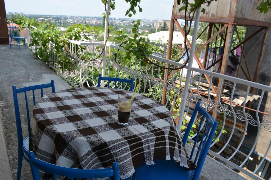 A balcony or terrace at Friends House in QD