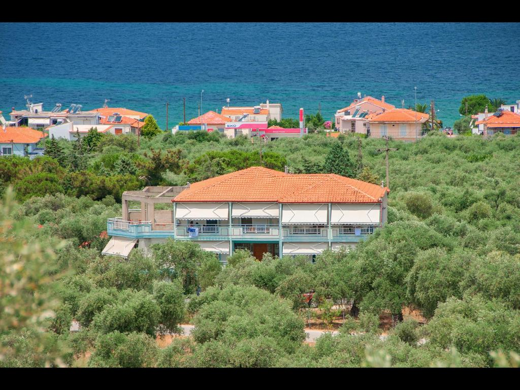 A bird's-eye view of Panagiotis Hotel