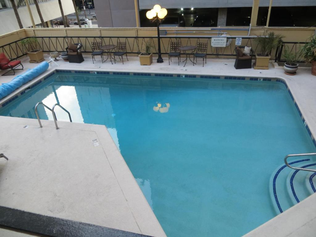 The swimming pool at or near Hotel San Carlos
