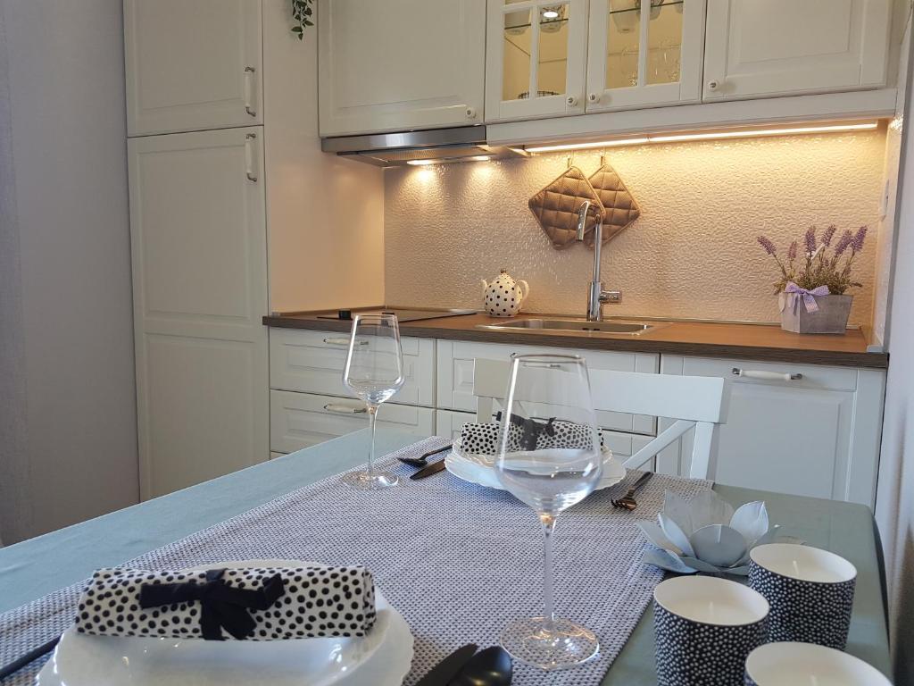 A kitchen or kitchenette at Apartments Iris
