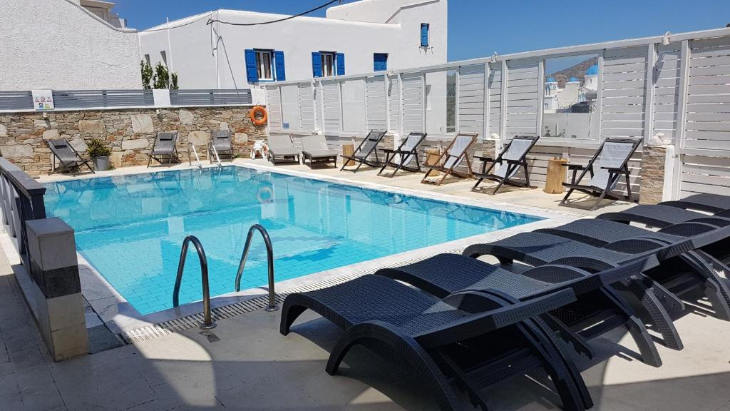 The swimming pool at or near Markos Village Pension