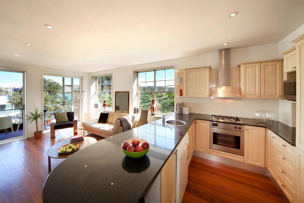 A kitchen or kitchenette at Luxury on Bondi Beach