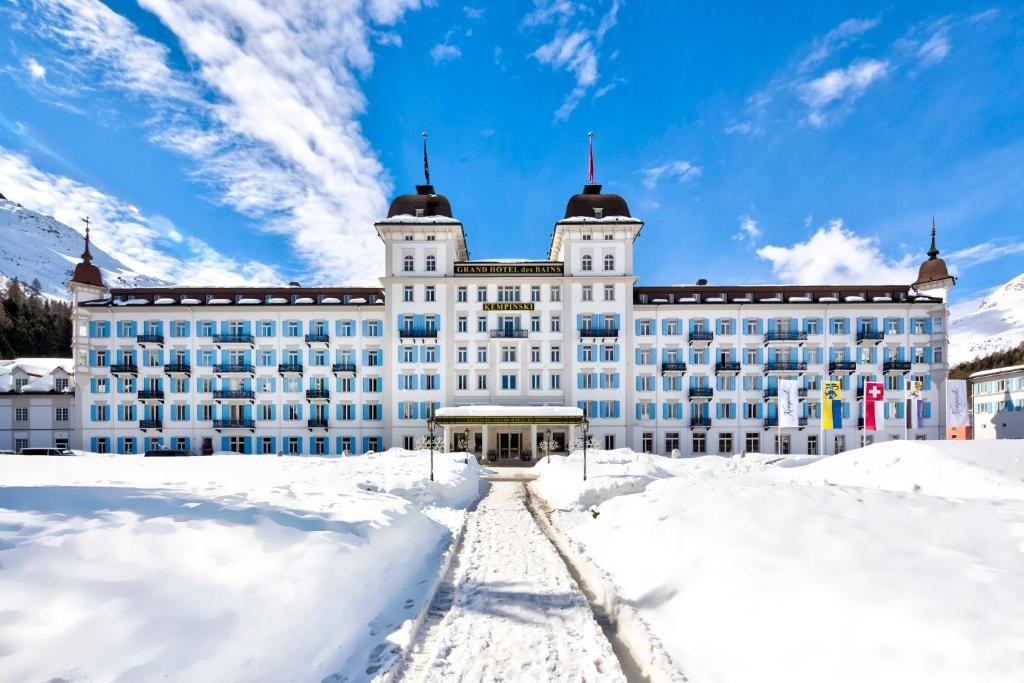 Grand Hotel des Bains Kempinski during the winter