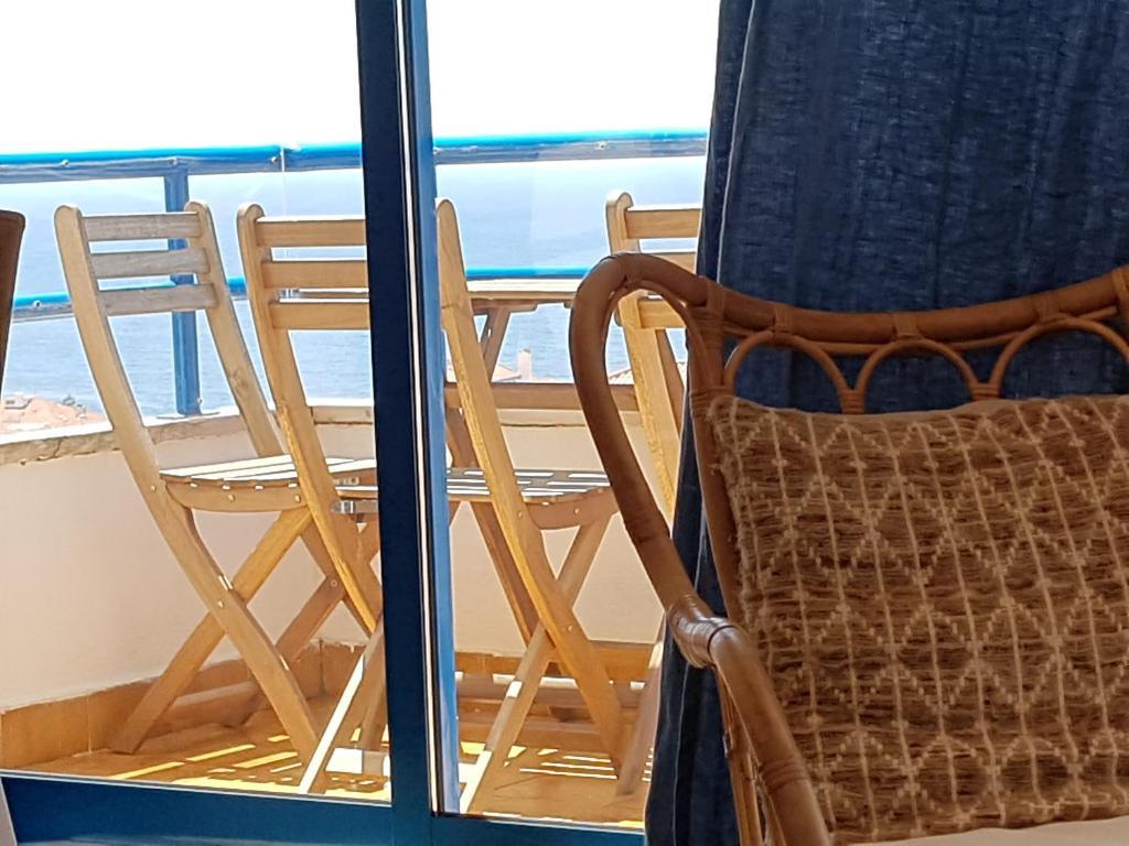 A balcony or terrace at Apartamento Mar Salgado Ericeira