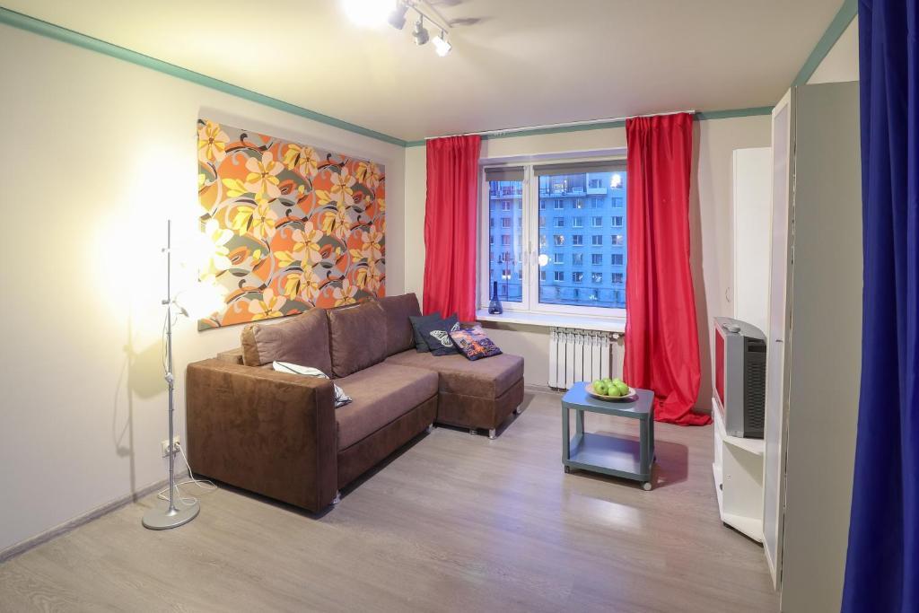 Гостиная зона в Apartment on Moskovsky 220