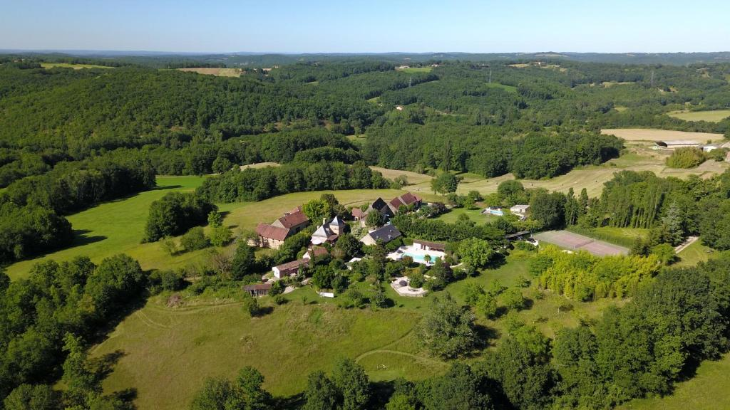 A bird's-eye view of Domaine de Montsalvy