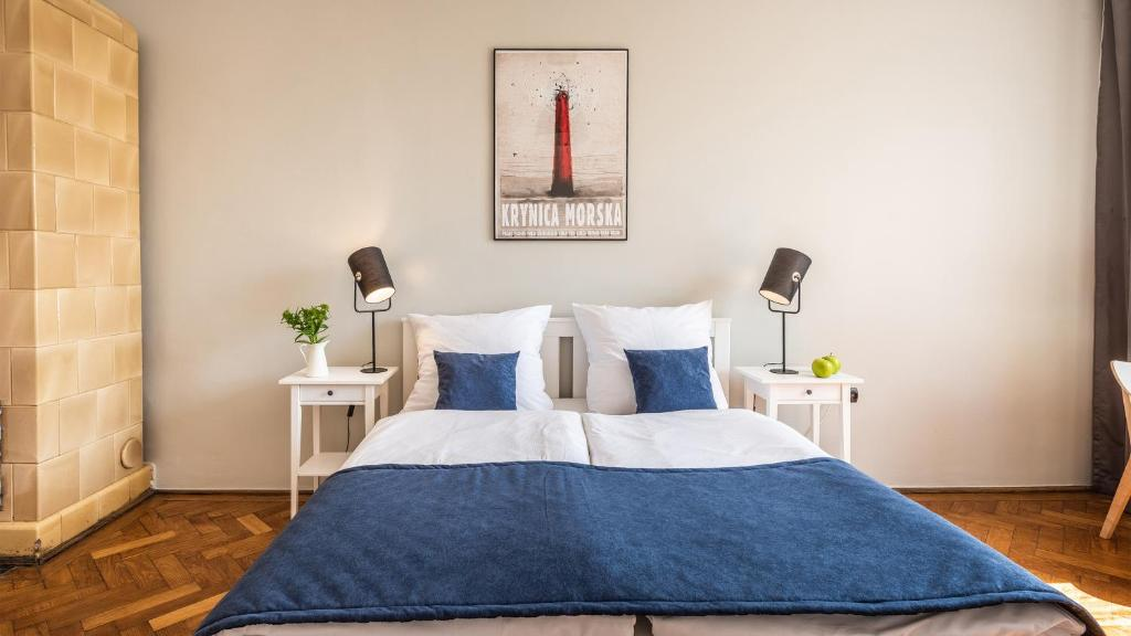 Posteľ alebo postele v izbe v ubytovaní Fenna Apartments