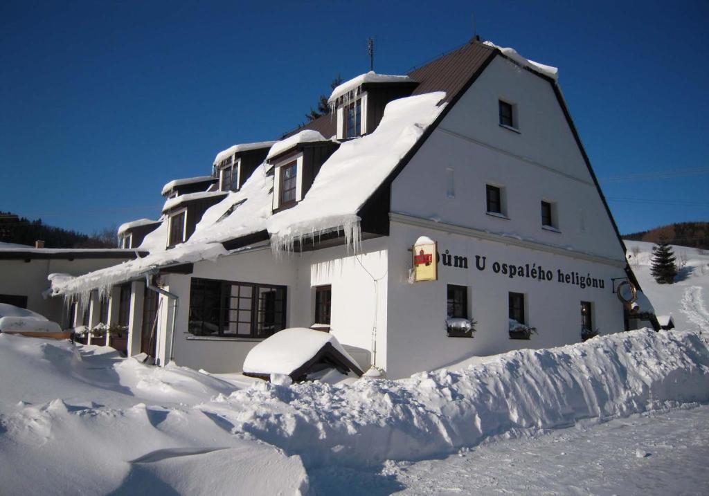 Dům U ospalého heligónu v zimě
