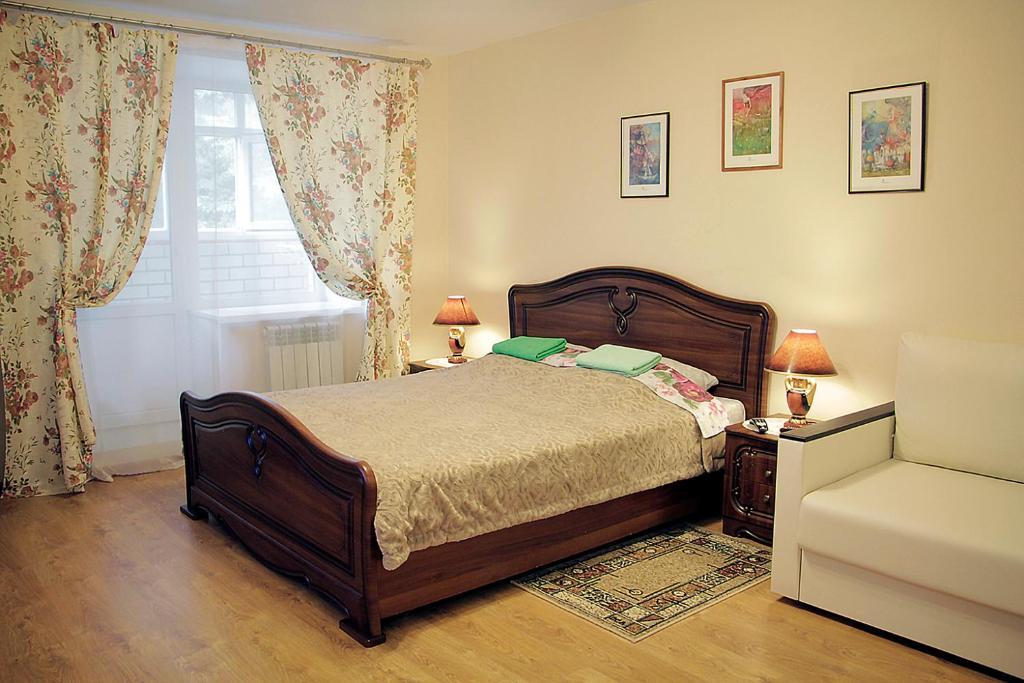 Кровать или кровати в номере Apartment in the city centre