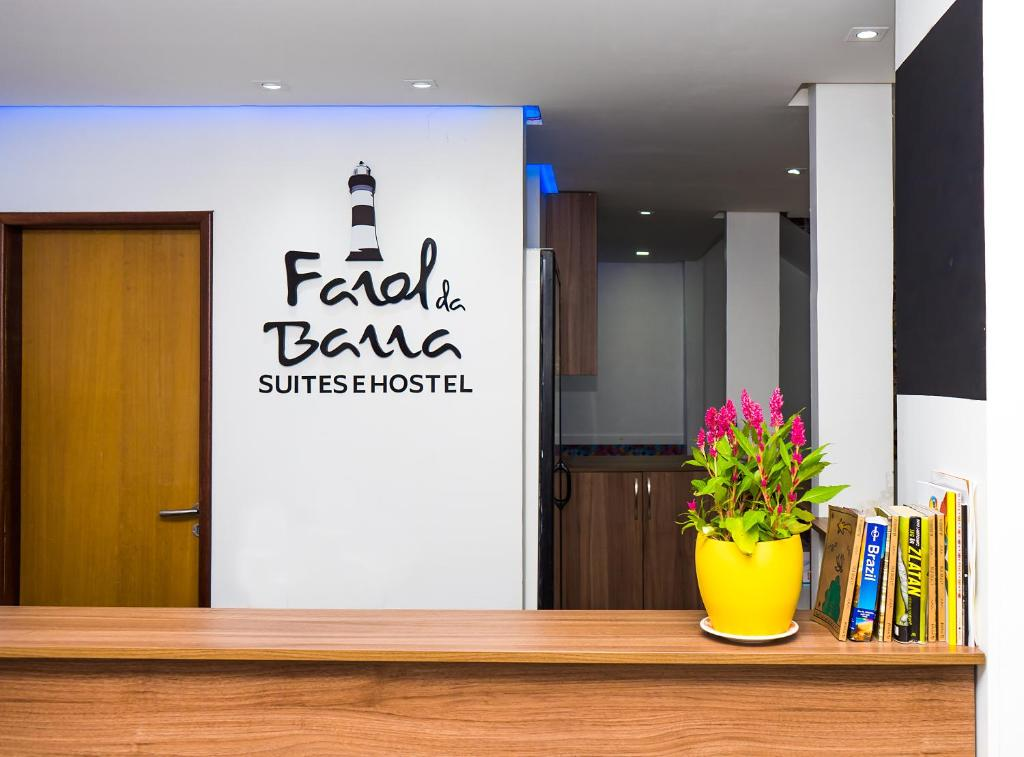 The lobby or reception area at Farol da Barra Suites e Hostel