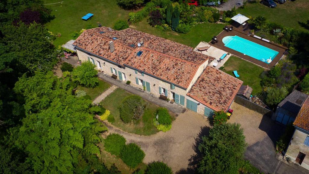 A bird's-eye view of Gite la Maison de la Pimpine Lignan de Bordeaux