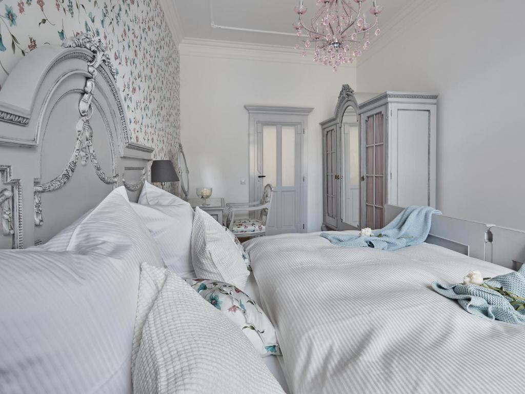 Postel nebo postele na pokoji v ubytování Apartman Ludmila