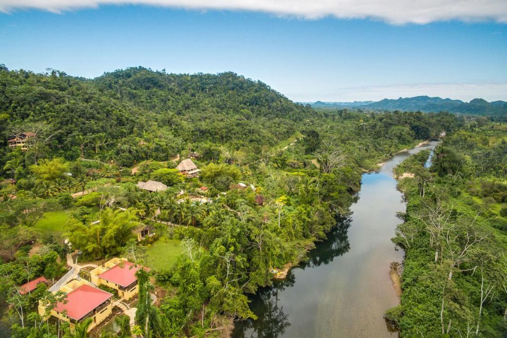 A bird's-eye view of Sleeping Giant Rainforest Lodge