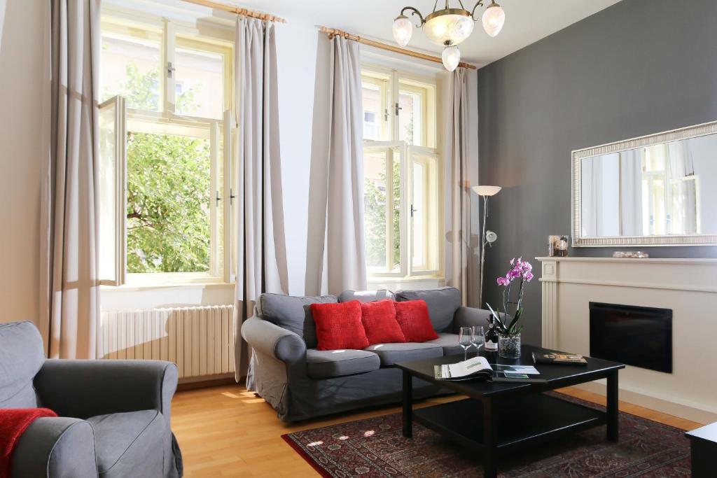 Posezení v ubytování Vinohrady Belgicka Apartments