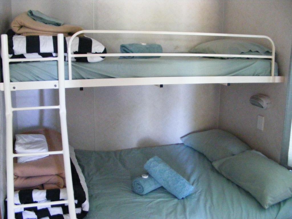 A bunk bed or bunk beds in a room at Cobar Caravan Park