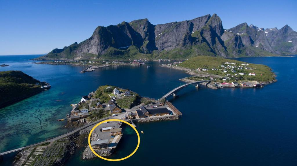 A bird's-eye view of MINI SAKRISØY Apartment