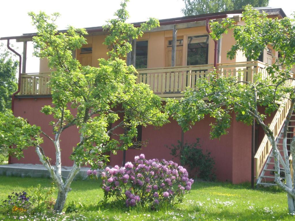 A garden outside Guest House Vītoli