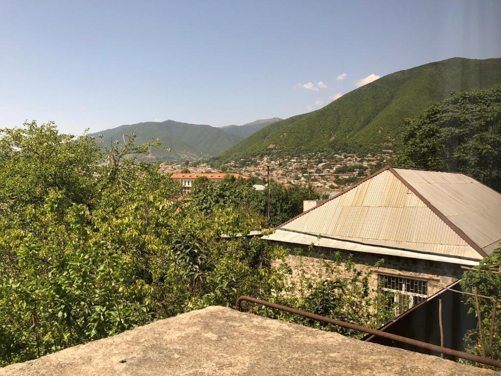 Uma vista da montanha tirada do cama e café (B&B)