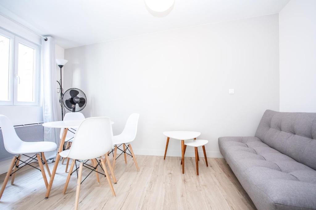 Coin salon dans l'établissement Appartement 8 - tout équipé - Carmes, Toulouse