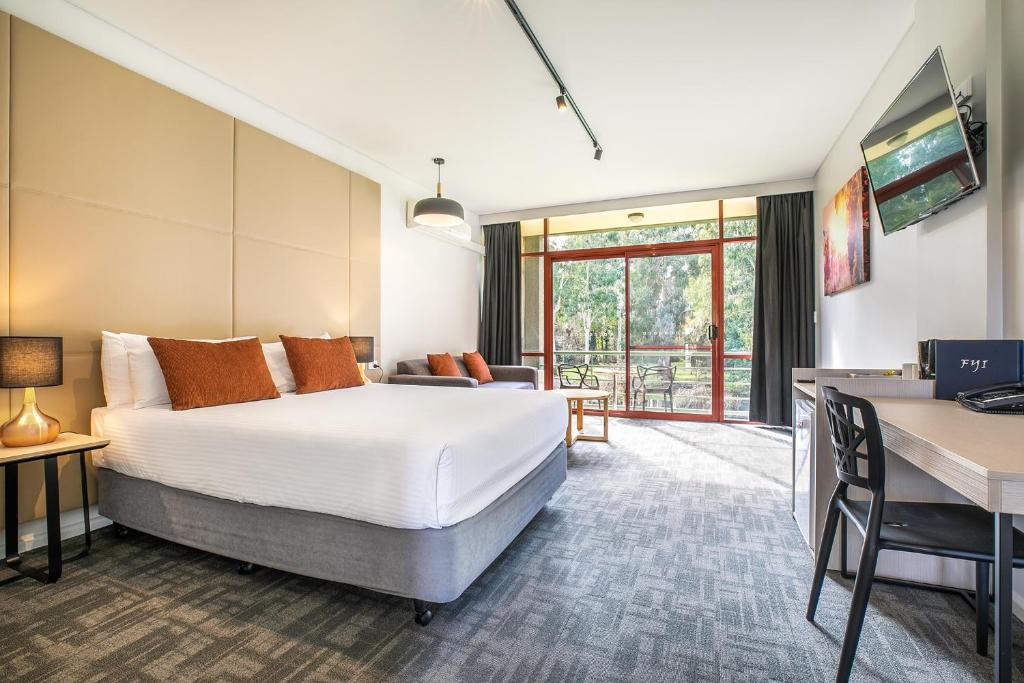 A bed or beds in a room at Nightcap at York on Lilydale