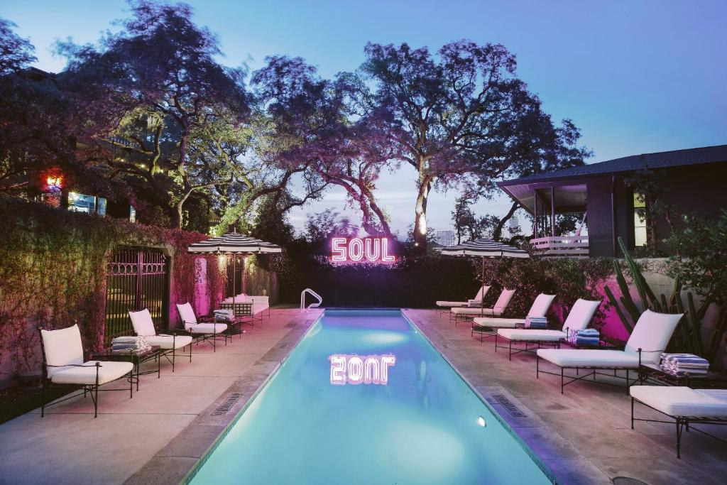 The swimming pool at or near Hotel Saint Cecilia