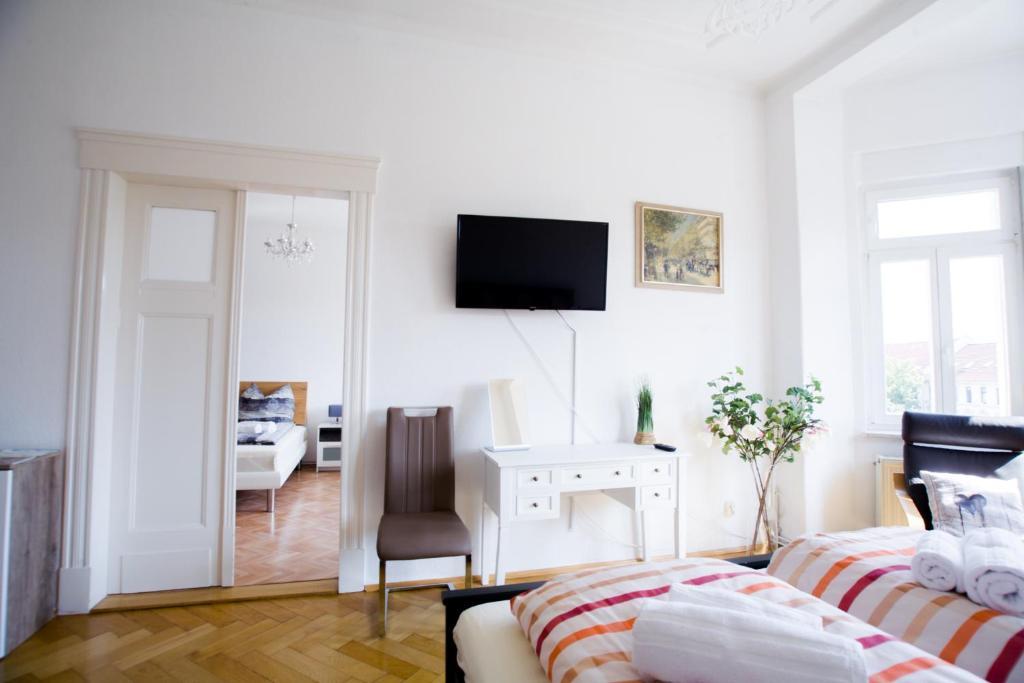 TV/Unterhaltungsangebot in der Unterkunft Auwald Apartment